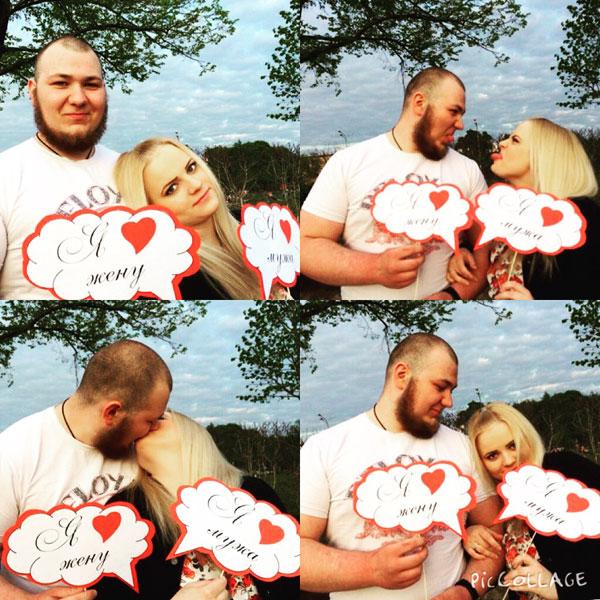 свадебная фотосессия с табичками