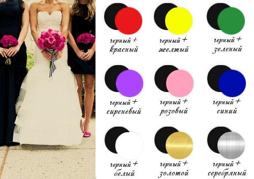 Сочетание цветов с черным