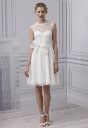 Короткие свадебные платья в стиле 50-х