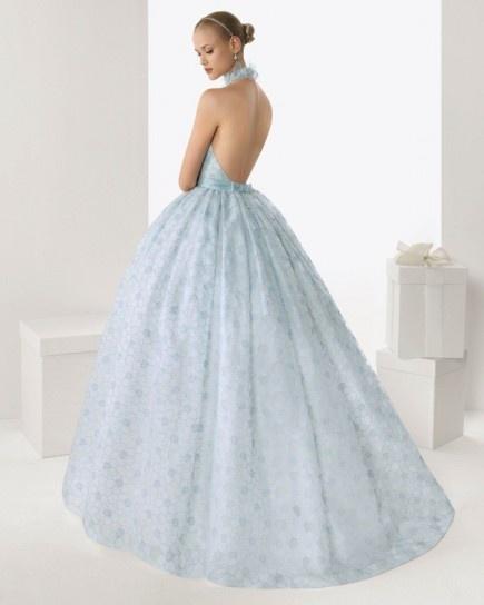 Голубое свадебное платье - дизайн РосаКлара